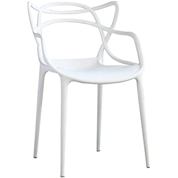 Fine Mod Imports Dining Chair, White