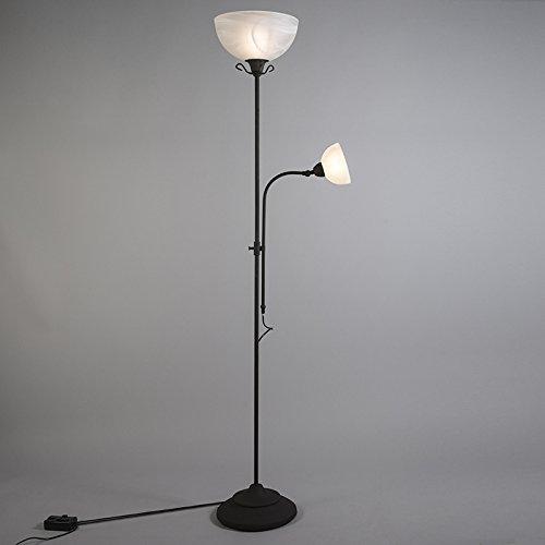 Sollampe Piedluminaire Qazqa Sur Rustique De Lampadairelampe 80PkXwnO