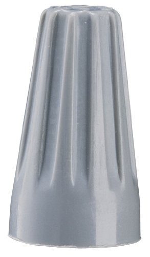 Gardner Bender 10-001 WireGard Screw-On Electrical Wire Connector, Size: 71B Wire Nut, 22-16 AWG (Guage), Copper - Copper Connection, Chemical & Extreme Environment Resistant, Flame Retardant, 300 V, 100 Pk., Grey