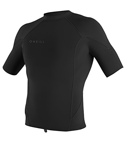 (O'Neill Men's Reactor-2 1.5mm Short Sleeve Top, Black, Large)