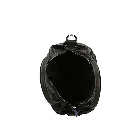 Genuina En Borse Negro Cm Bolso Chicca 32x20x15 Piel cTzgBcPU
