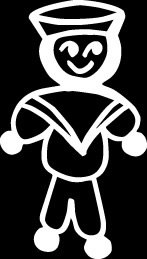 Navy male sailor dad son Stick Figure Family stick em up White vinyl Die Cut vinyl Decal sticker for any smooth surface