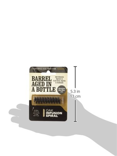 4 Pack - Barrel Aged in a Bottle Oak Infusion Spiral - Barrel Age Whiskey Gin Rum Wine Beer by Oak Infusion Spiral (Image #3)