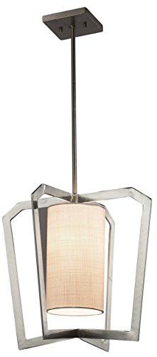 Diseño grupo de la Justicia iluminación fab-8011-whte-dbrz Aria 1-Light araña de tela con tela de sombra en blanco, color...