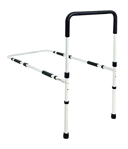 Essential Medical Supply Height Adjustable Hand Bed Rail with Floor Supports (Home Aid Medical Equipment & Supplies Inc)