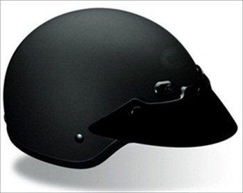 Black Shorty Helmet (Bell Shorty Matte Black Half Helmet - Small)