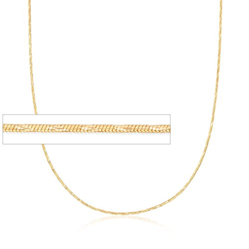 Snake Chain 14k Yellow Gold Necklace Solid Mens Womens 1 mm , 20 inch
