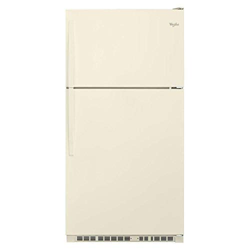 Bisque Top Freezer Refrigerator - WHIRLPOOL REFRIGERATORS 1030587 21 cu.ft. Top-Freezer Refrigerator, Bisque, Reversible Door Swing