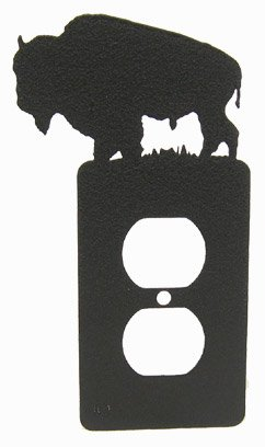 Bison Buffalo Single Power Outlet Plate - Buffalo Directions Outlets