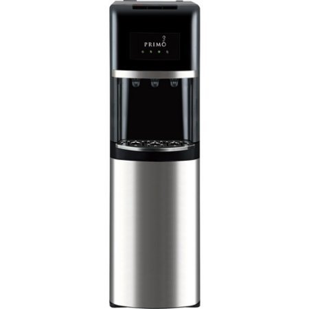 Primo Stainless Steel   Black Bottom Load Bottled Water Dispenser   3  4 Or 5 Gallon