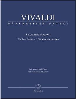 ヴィヴァルディ: バイオリン協奏曲 F.I, N.22-25 Op.8/1-4 「四季」/ベーレンライター社/バイオリンとピアノ