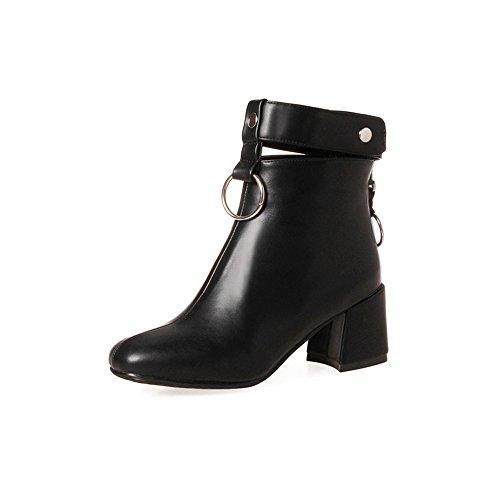 FUFU Frauen Stiefel Mode Stiefel Bootie Herbst Winter PU Für Casual Low Heel Party & Abend Gelb Schwarz Grau Aprikose Schwarz