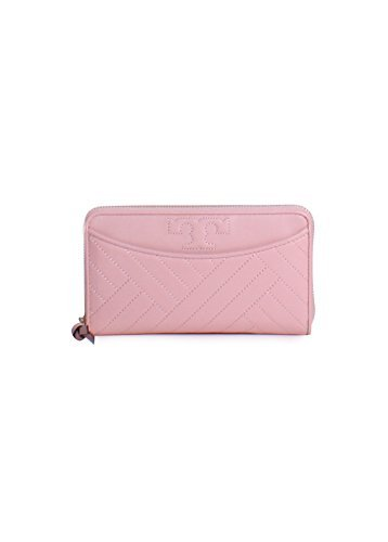 Tory Burch Alexa Zip Continental Wallet in Dark Pink Quartz