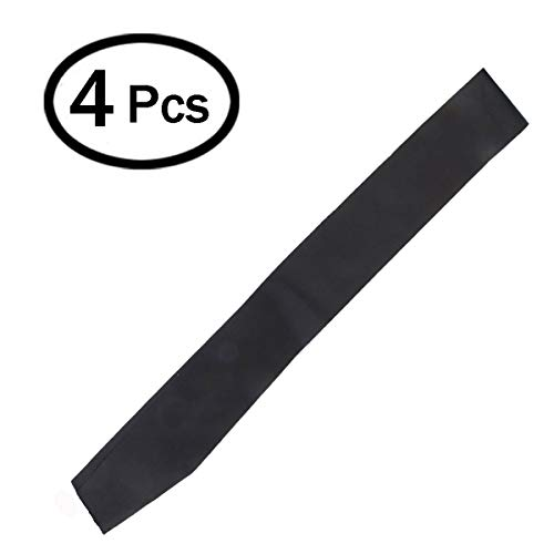 DJDZ 4 Pack Black Blank (Plain) Satin Sash Party Accessory for Party,Wedding Decorations and DIY - Design Your Own Sash (Black)