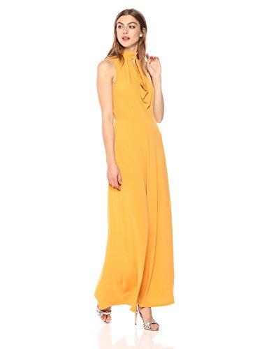 (Wild Meadow Women's Mock Neck Maxi Draped Dress XL Yellow)
