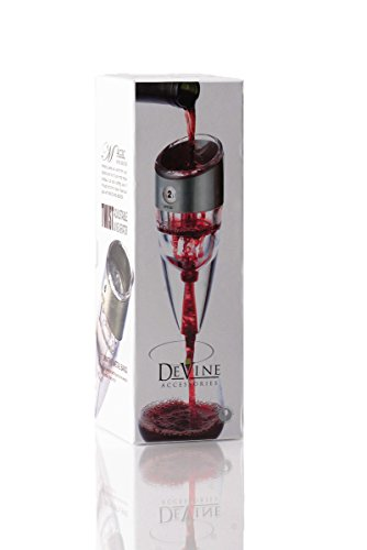 DeVine Professional Grade Instant Wine Aerator - Aerate Wines in Seconds - Twist Adjustable Aerator- Covers Up to 6 Speeds-Includes a Travel Pouch