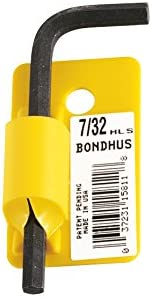 Short Arm Tagged and Barcoded Bondhus 15802 .050 Hex Tip Key L-Wrench with ProGuard Finish