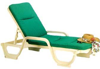 Grosfillex Bahia Resin Chaise - 44031066 (6 pack)