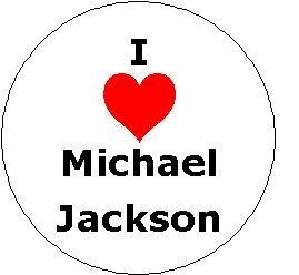 I Love Michael Jackson Pinback Button ~ ()