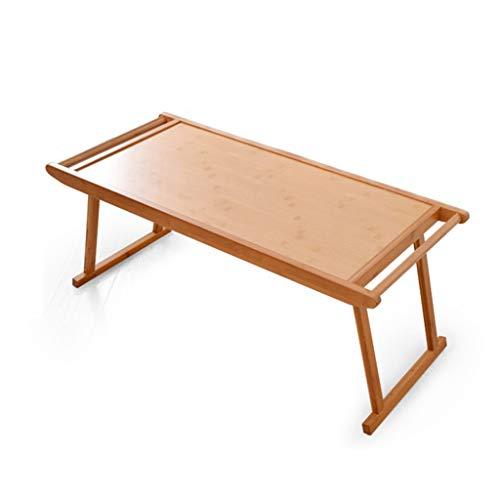 Amazon.com: Mesa de café pequeña mesa de madera de bambú ...