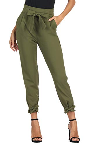 Army Fancy Dress - GRACE KARIN Women Cargo Pant Belted