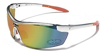 X-Loop Lunettes de Soleil - Sport - Cyclisme - Ski - Conduite - Motard/Mod. 3550 Argent Orange/Taille Unique Adulte/Protection 100% UV400 Mg71TNqRa