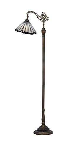 Dale Tiffany Lamps STF17095 Joaquin Directional Down Bridge Tiffany Floor Lamp - Dale Tiffany Mission Floor Lamp