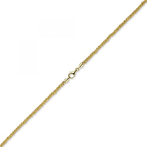3 mm Imagination de collier de collier bijoux en or jaune 585, 42 cm