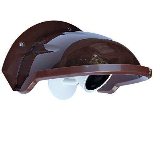 Universal Sunshade Rainshade Camera Cover Shield for Outdoor Nest/Nest IQ Camera - Coffee