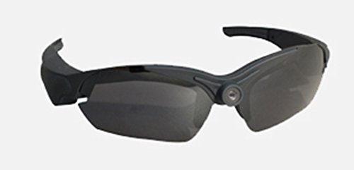 UltraByEasyPeasyStore POV Glasses W/ additional Black Lenses Action Video Camera 720p HD High Resolution sports glasses for outdoor use black (+8gb Micro SD - Pivothead Sunglasses Video