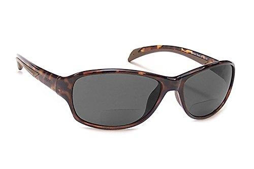 Coyote Eyewear BP-14 Polarized Bi-Focal Reading Sunglasses in Tortoise & Grey +2.50 by Coyote Eyewear