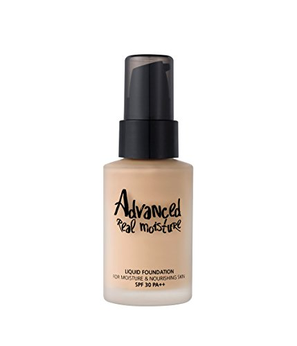 [Touch in SOL] Advanced Real Moisture Liquid Foundation SPF30 PA++ 30ml Watery Foundation