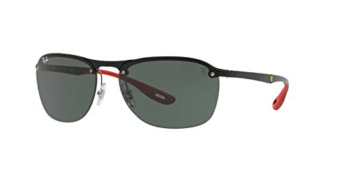 Ray-Ban Men's Plastic Man Rectangular Sunglasses, Black, 62 - Parts Scuderia