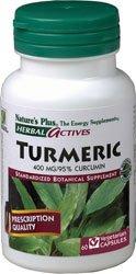 Nature's Plus Herbal Actives Turmeric -- 400 mg - 60 Vegetarian Capsules
