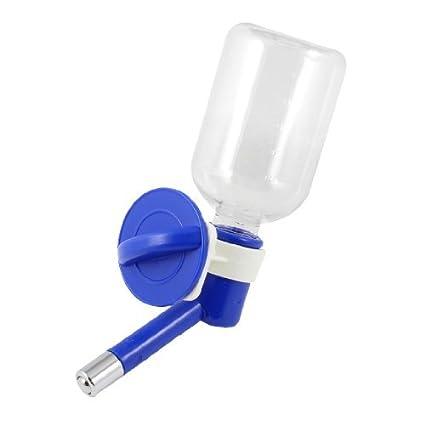 eDealMax 250ml Azul de plástico transparente de Animal doméstico del gato del perro Botella Alimentador colgante