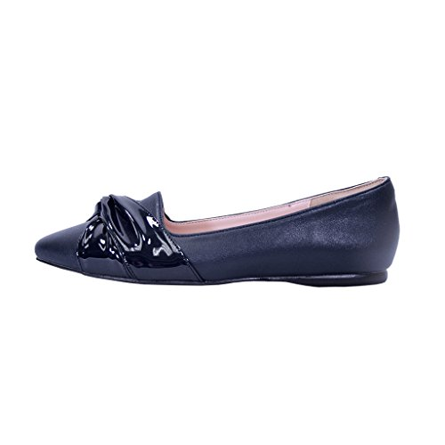 Blue Dress Skimmer Measurement Wide Width Whitney Size Casual Women Available PEERAGE Chart Flats Pointed Toe q6T0CnZw