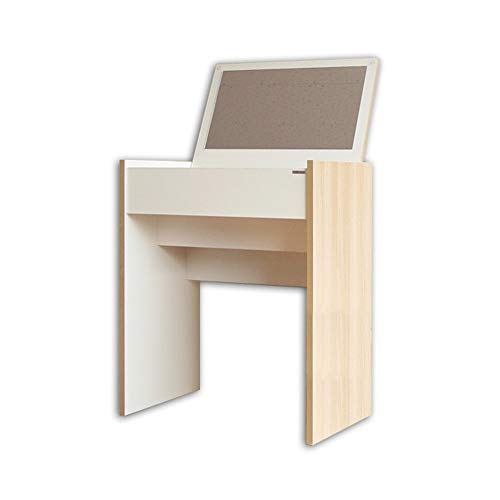 Tables MEIDUO Makeup with Flip Top Mirror Makeup Dressing with Organizers Wooden (Color ()