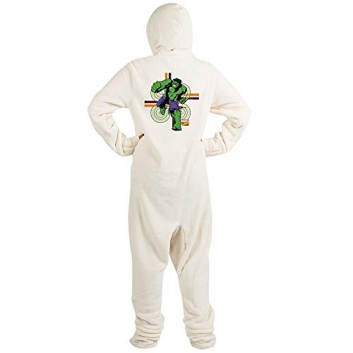 CafePress Classic Hulk Punch Novelty Footed Pajamas, Funny Adult One-Piece PJ Sleepwear Creme -