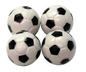 Regent-Halex Replacement Foosballs (Pack of 4), Black/White, Small