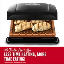 George Foreman Model GRP460BXC Black Four Serving Grill/Panini Maker