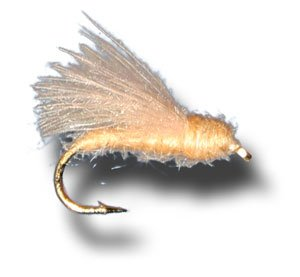- CDC Adult Caddis - Tan Fly Fishing Fly - Size 16 - 12 Pack