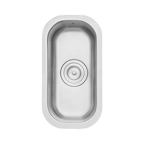 Z Series Stainless Steel Kitchen Bar Sink Milan 9 1/2 x 18 Inch Undermount Single Bowl With Strainer