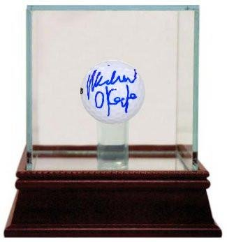 Michael O'Keefe signed Bushwood Country Club Caddyshack Golf ball w/ Glass Case- Hologram - Steiner Sports Certified