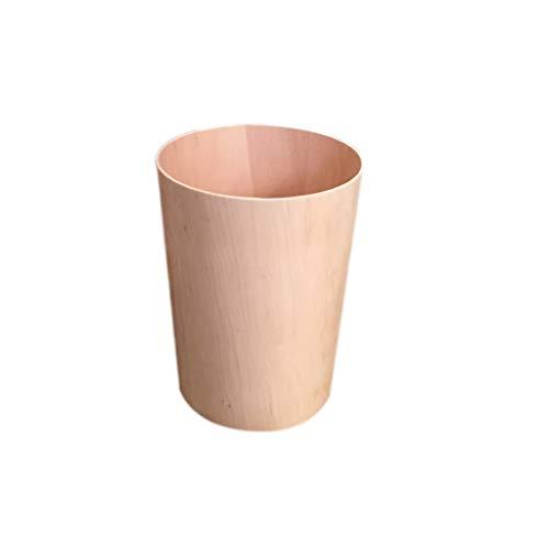 GYZS Log Trash Can Paper Basket Storage Barrel Living Room Bedroom Home Modern Fashion Creative Minimalist Design (Color : Natural) - Stainless Steel Wood Log Basket