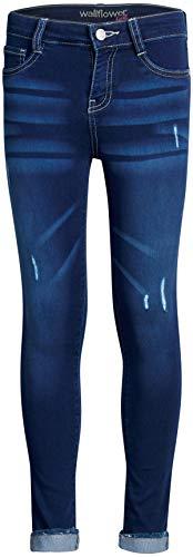 'WallFlower Girls Insta Soft Stretch Denim Jeans (Two Button/Medium Dark Wash, 12)'