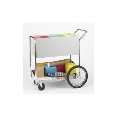 Charnstrom Medium Solid Metal Cart with 16-Inch Rear Wheels (B135)