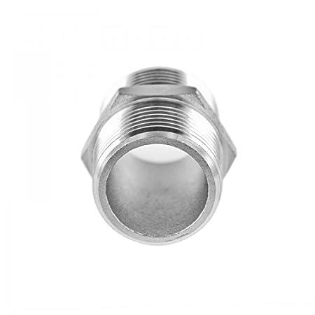 Manchon double acier inoxydable V4A raccord filet/é m/âle externe