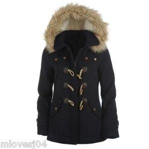 2b4e8ec16 kangol ladies duffle jacket navy blue size 14: Amazon.co.uk: Clothing