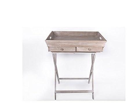 Pieghevole pieghevole piatto vassoio supporto da tavolo con draw