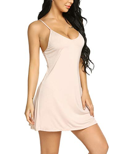 - Avidlove Women's Chemise Modal Sleepwear Full Slip Lace Babydoll Nightgown Outfit Apricot S
